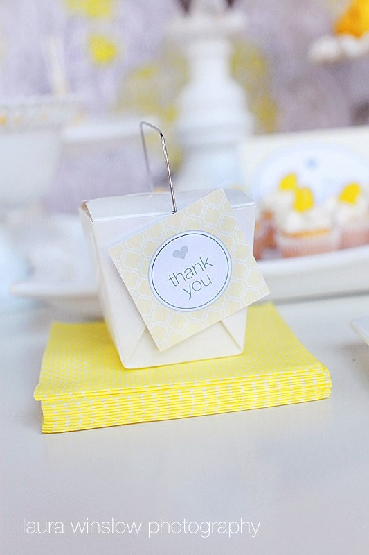 PRINTABLE Favor Tags - Yellow & Gray Party Collection - The TomKat Studio