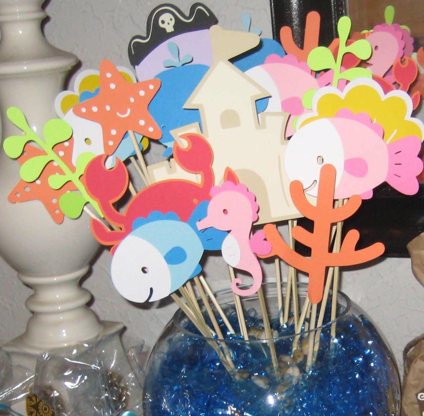 Little Fishie Aquarium Centerpiece Sticks
