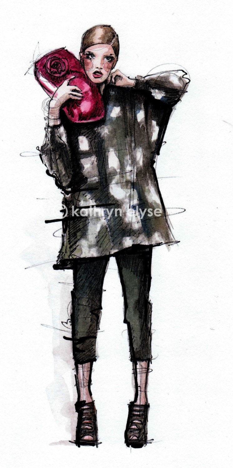 Moschino Fashion Illustration Print 3