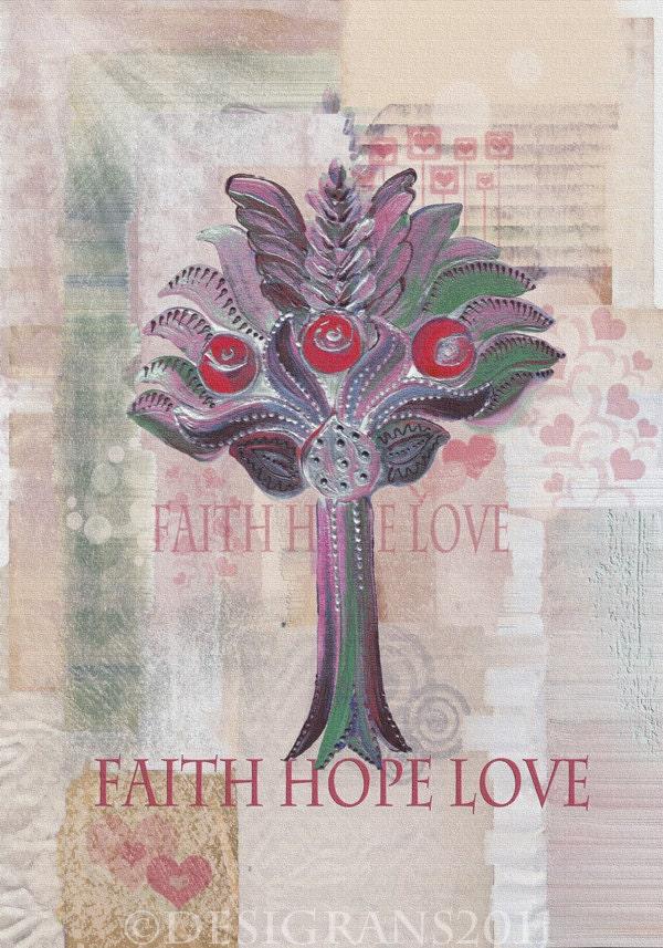 """Faith Hope Love. Winter2. A series of """"Garden of Eden"""". Medieval motifs."""