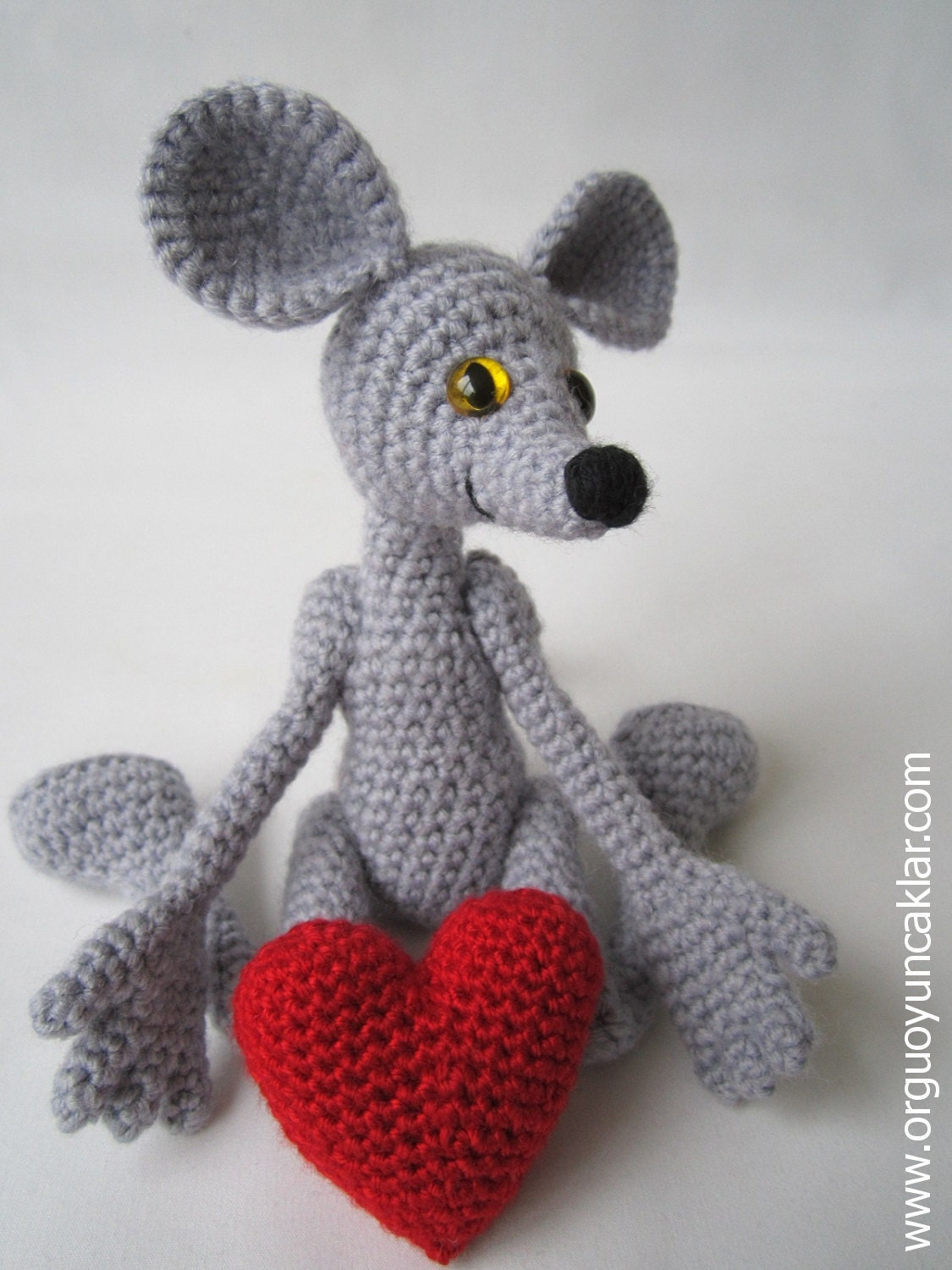 Amigurumi Mouse : Amigurumi 5 ways jointed Mouse Pattern by Denizmum on Etsy