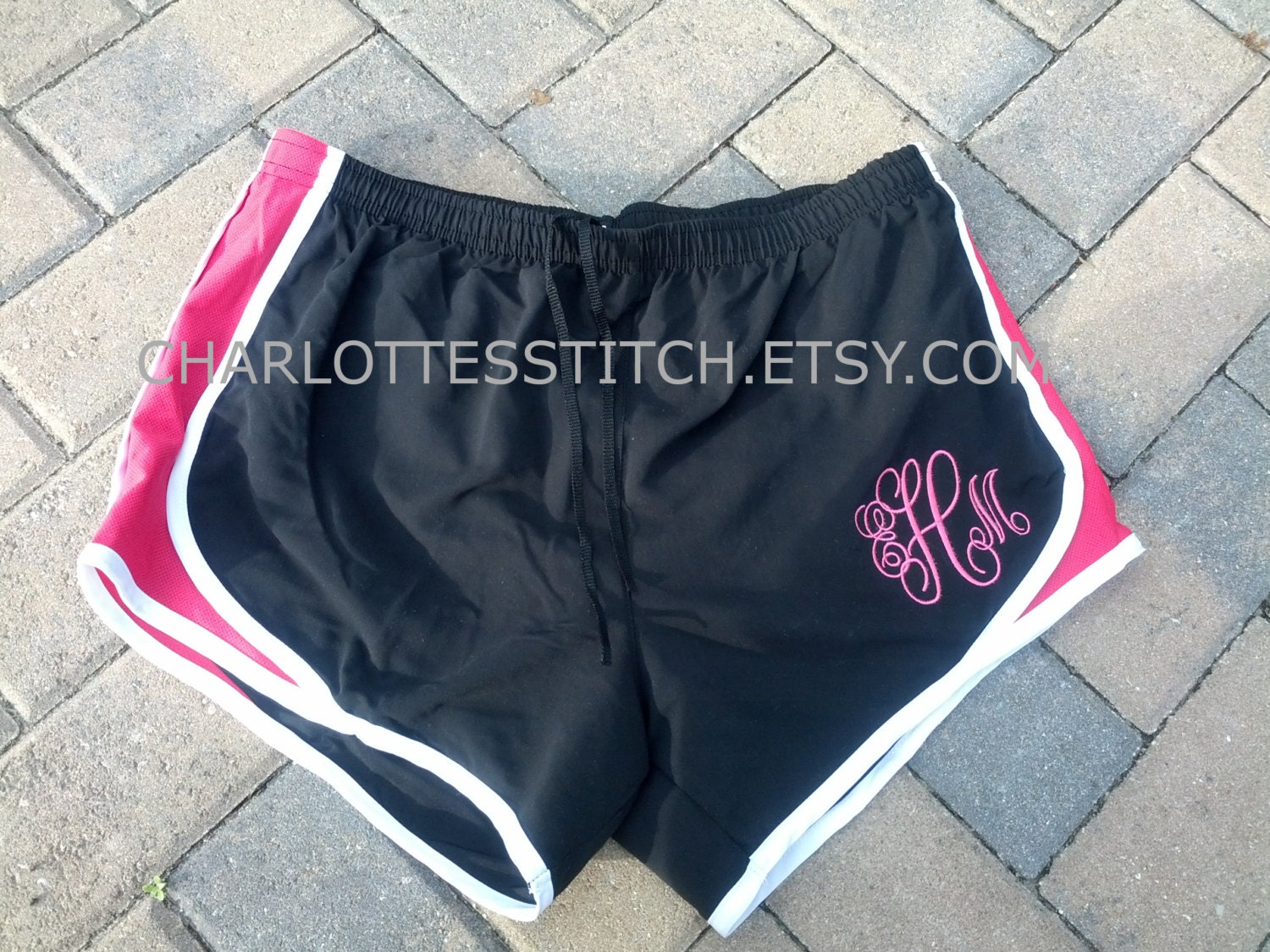 Monogrammed Running Shorts- Ladies and Youth Sizes