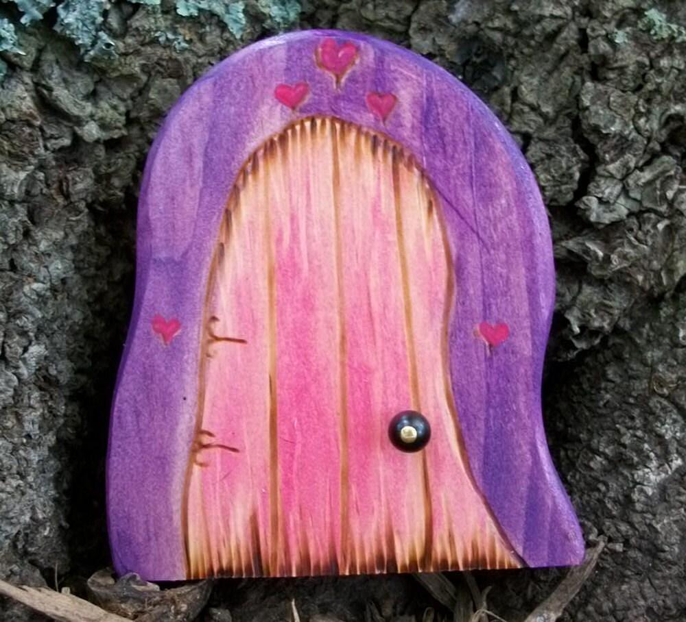 Дали волшебную дверь Top магический портал 3 1 / 2 дюйма Фиолетовый и розовый с сердцами