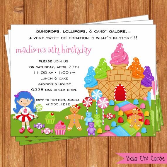 Candyland Birthday Invitations – Candy Land Birthday Invitations