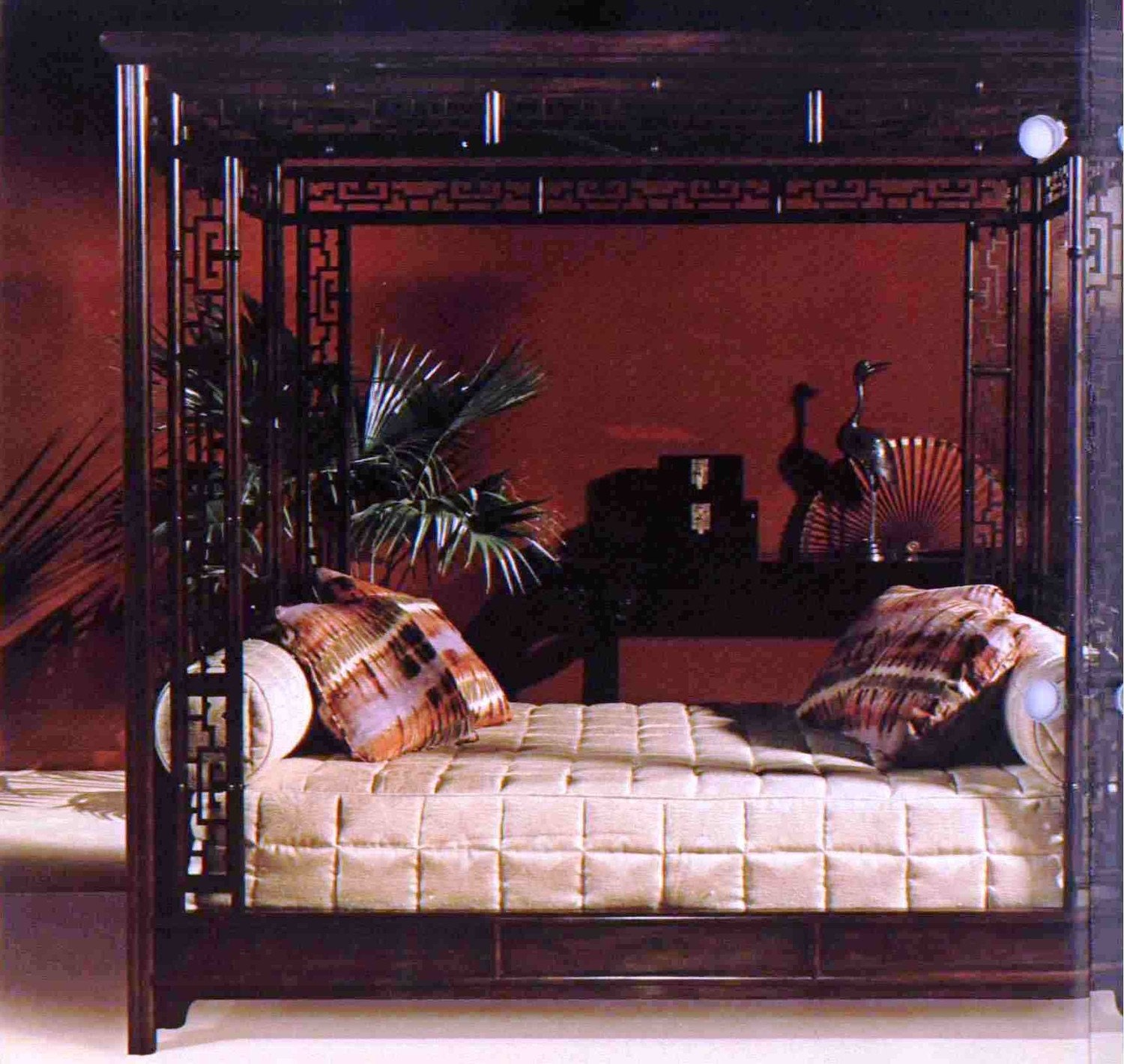 Chinese Chippendale Bed : BAKER CHINESE CHIPPENDALE WEDDING BED QUEEN by SHOSANDESIGNS