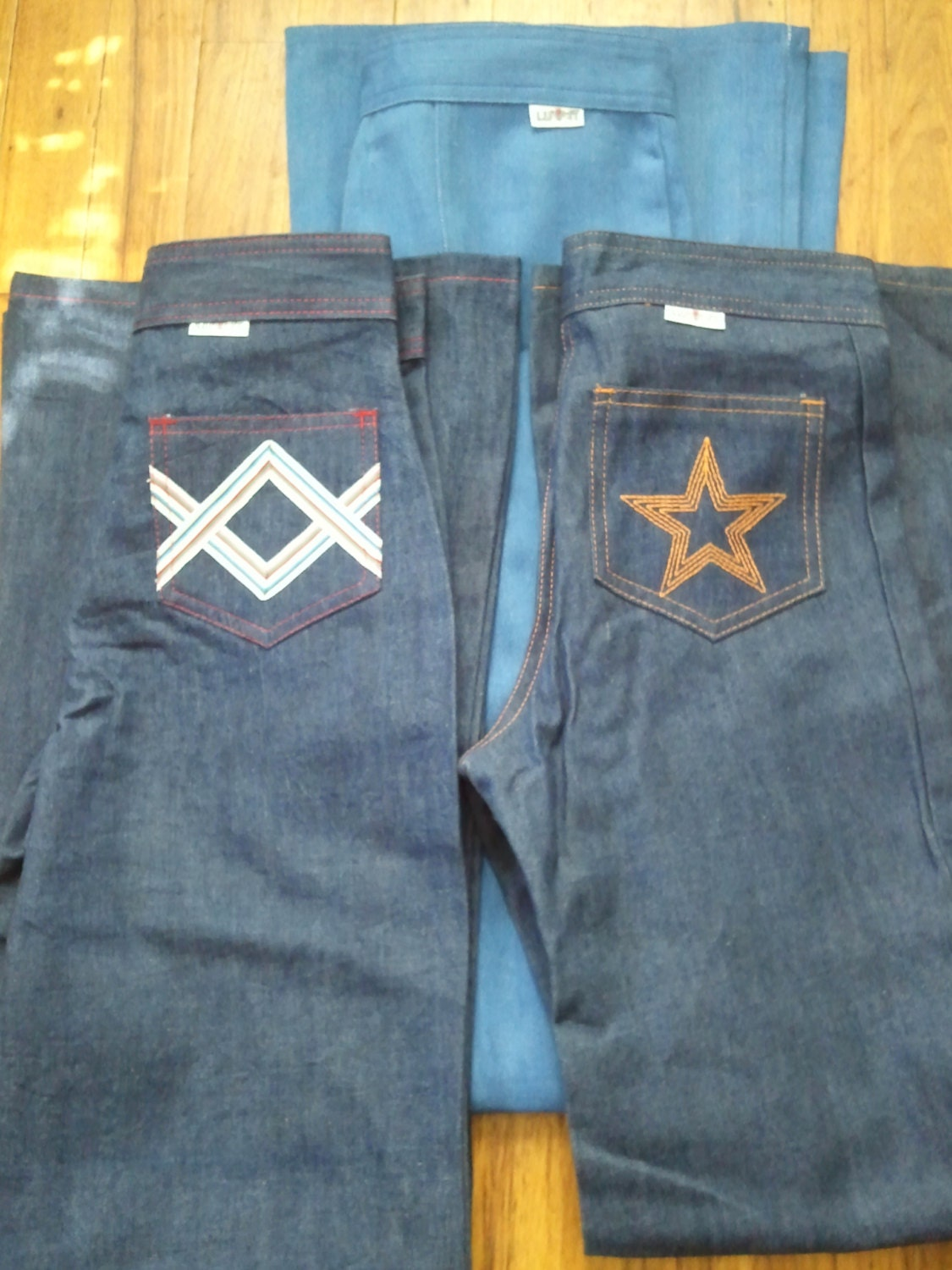 Items similar to Genuine Vintage 1970 Luv-It Jeans BRAND NEW on Etsy