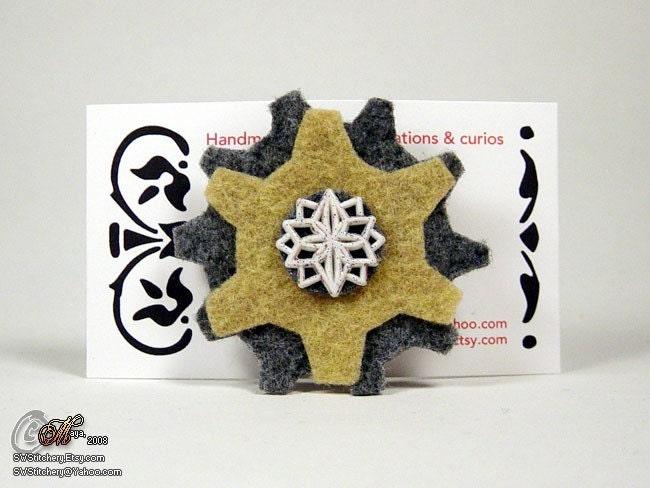 Snowflake Gears Pin