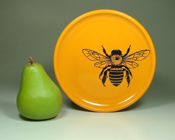 little plate honey bee (creamsicle orange) - Made to Order / Pick Your Colour
