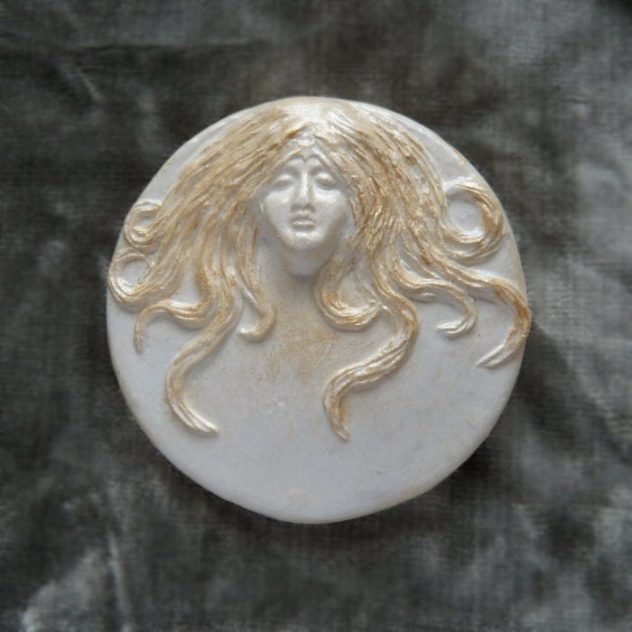 Full Moon Golden Goddess Wall Plaque