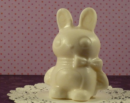 chocolate bunny no ears. chocolate bunny ears. Handmade White Chocolate Bunny