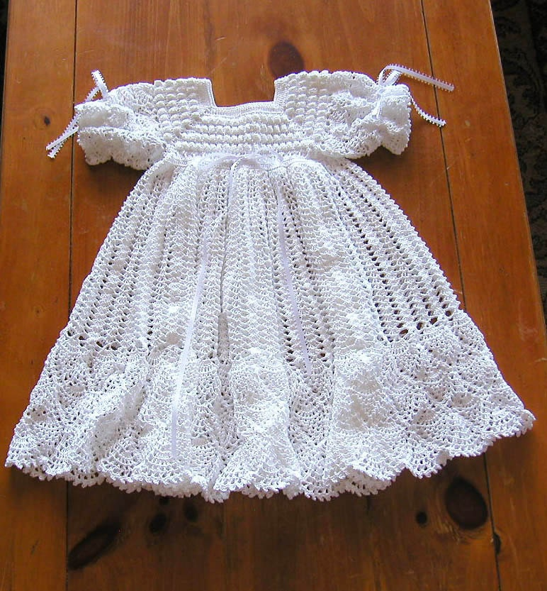 Free Crochet Baby Blessing Dress Pattern ~ legite.info for .