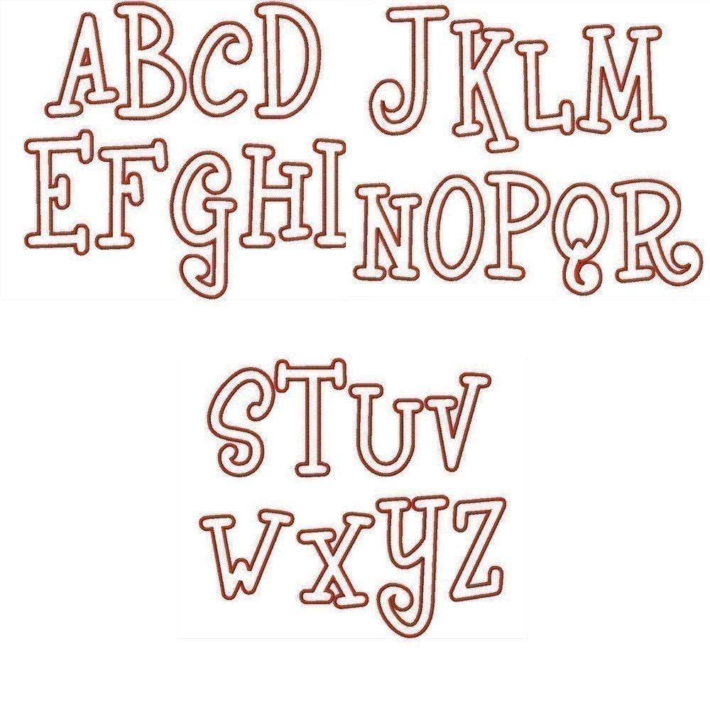Machine Embroidery Designs Applique Alphabet Monogram 028 BUY 2 GET 1 FREE