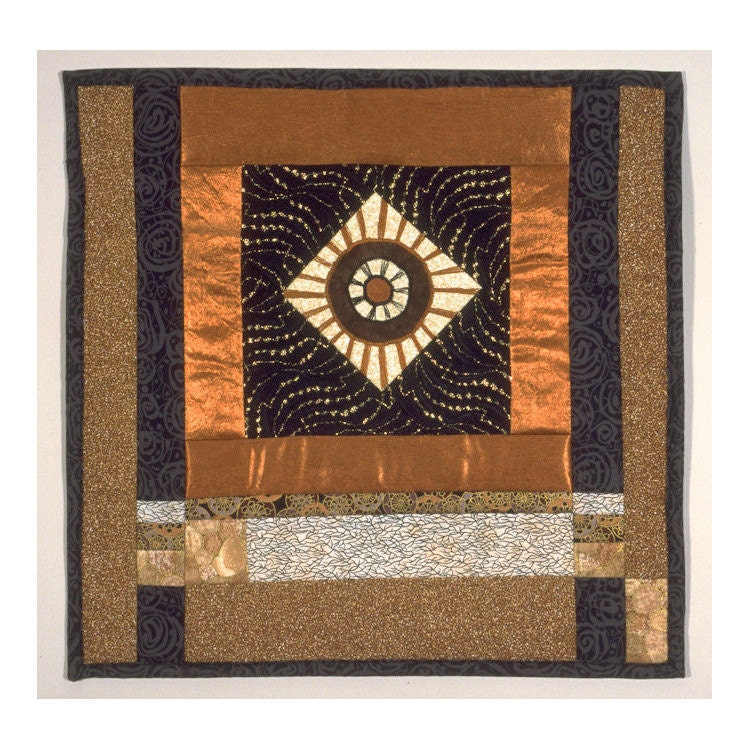 Black Gate Wall Decor : Original art quilt torri gate geometric by lmotextilearts