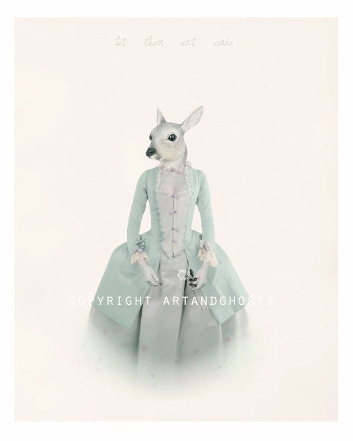 Sally Antoinette - Digital Painting/collage Art Print 10x8 - littleghost
