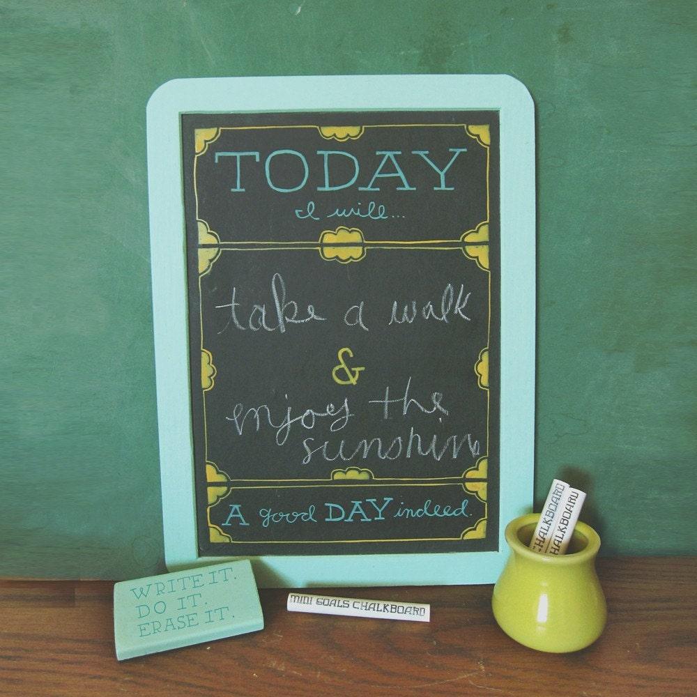 Mini Goals Chalkboards - Old School - Foamy/Mossy