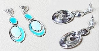 Perfectly Light blue Necklace and Earrings Set