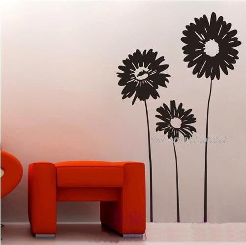 Sunflower-60inch high--Removeable Wall Art Home Decors Murals Vinyl Decals Sticker