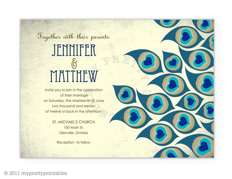 peacock wedding invitation boxes