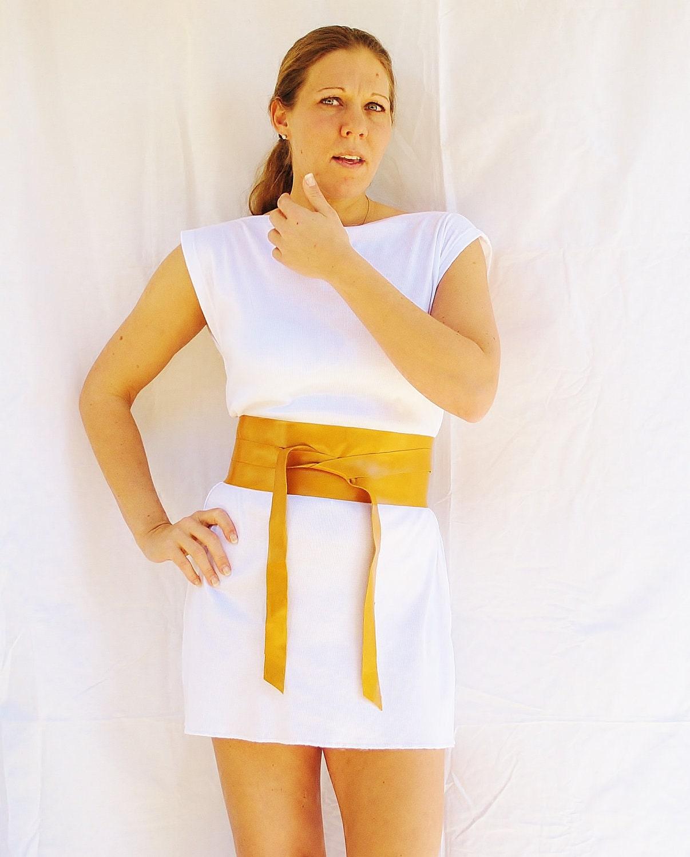 Golden Honey Leather Obi Belt Womens  Japanese Style Genuine Leather - FineThreadz