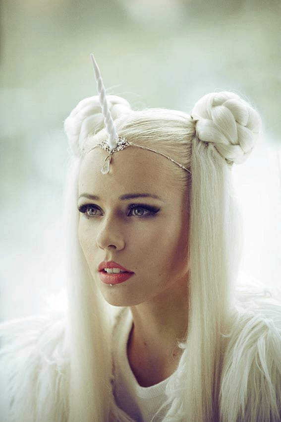White Unicorn Horn Circlet