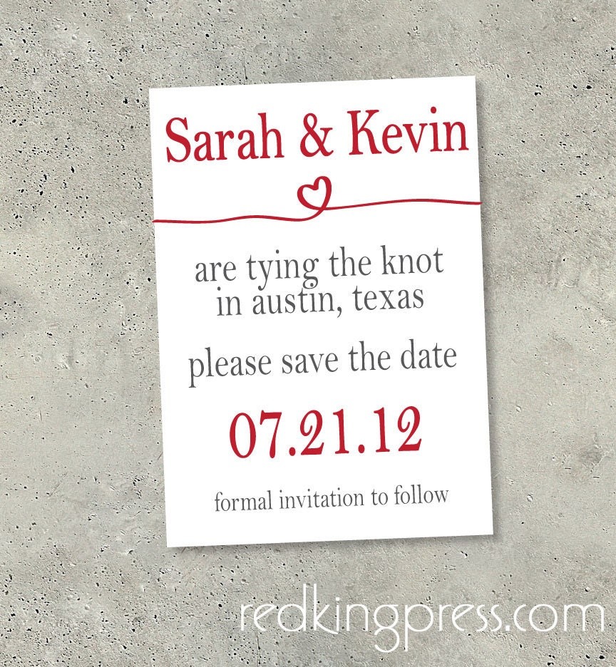 items similar to save the date tying the knot on etsy