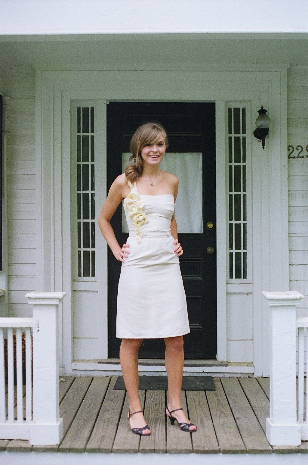 ivory dress - recycled