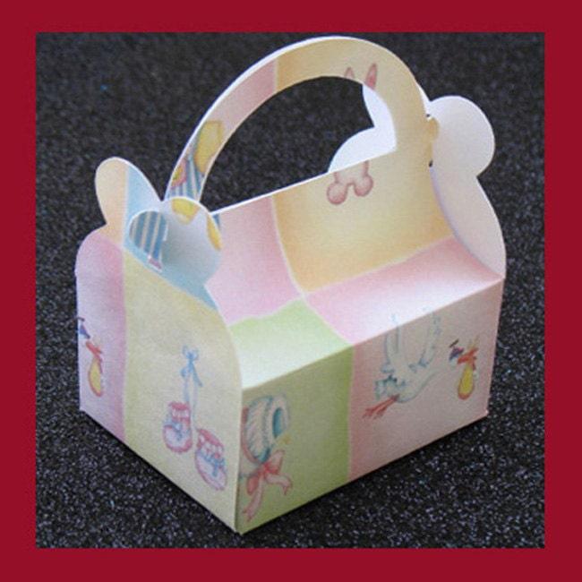 stork baby shower favor box stork baby shower party favor box