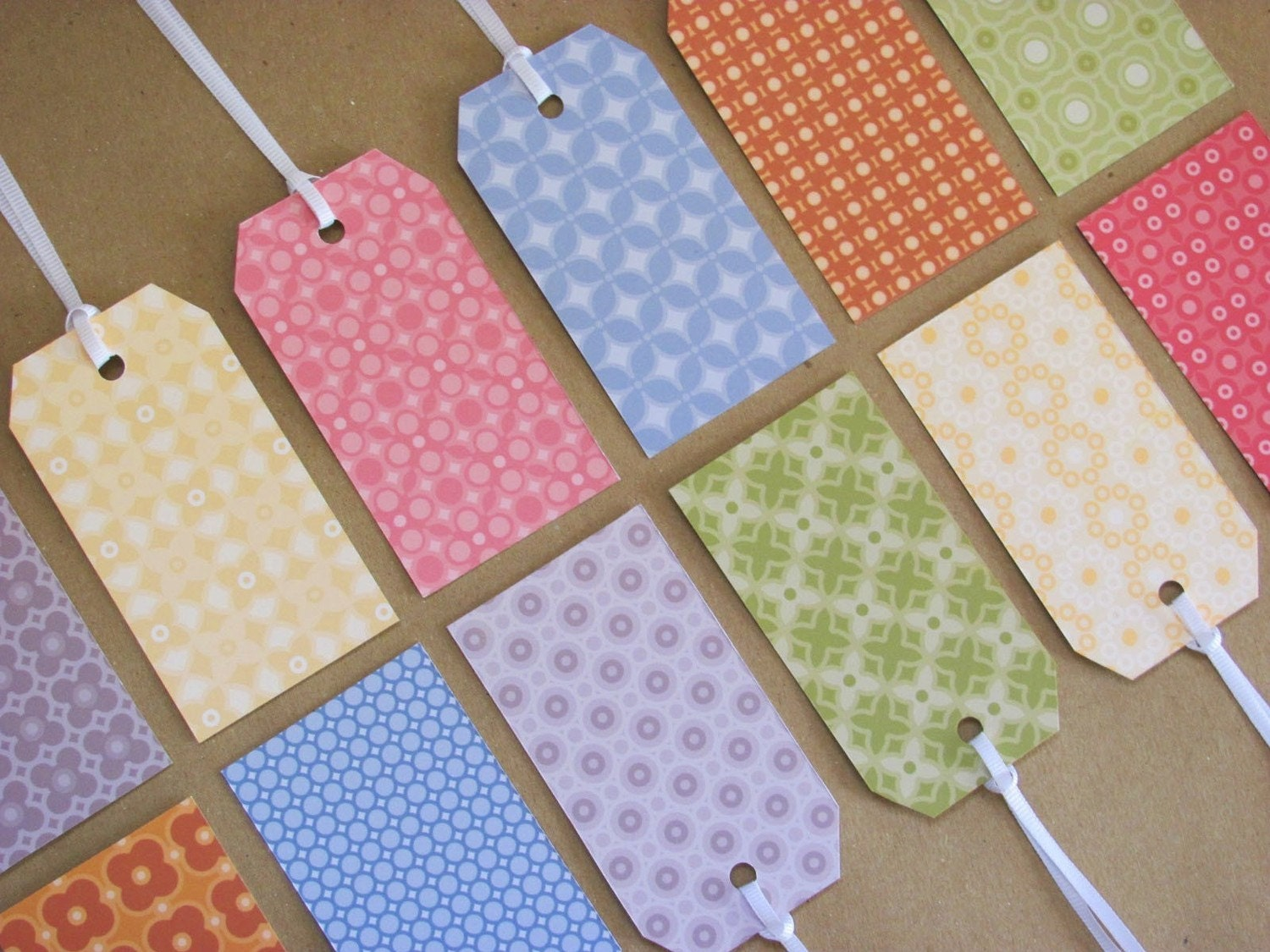 Assorted Pattern Gift Tags - Set of 12