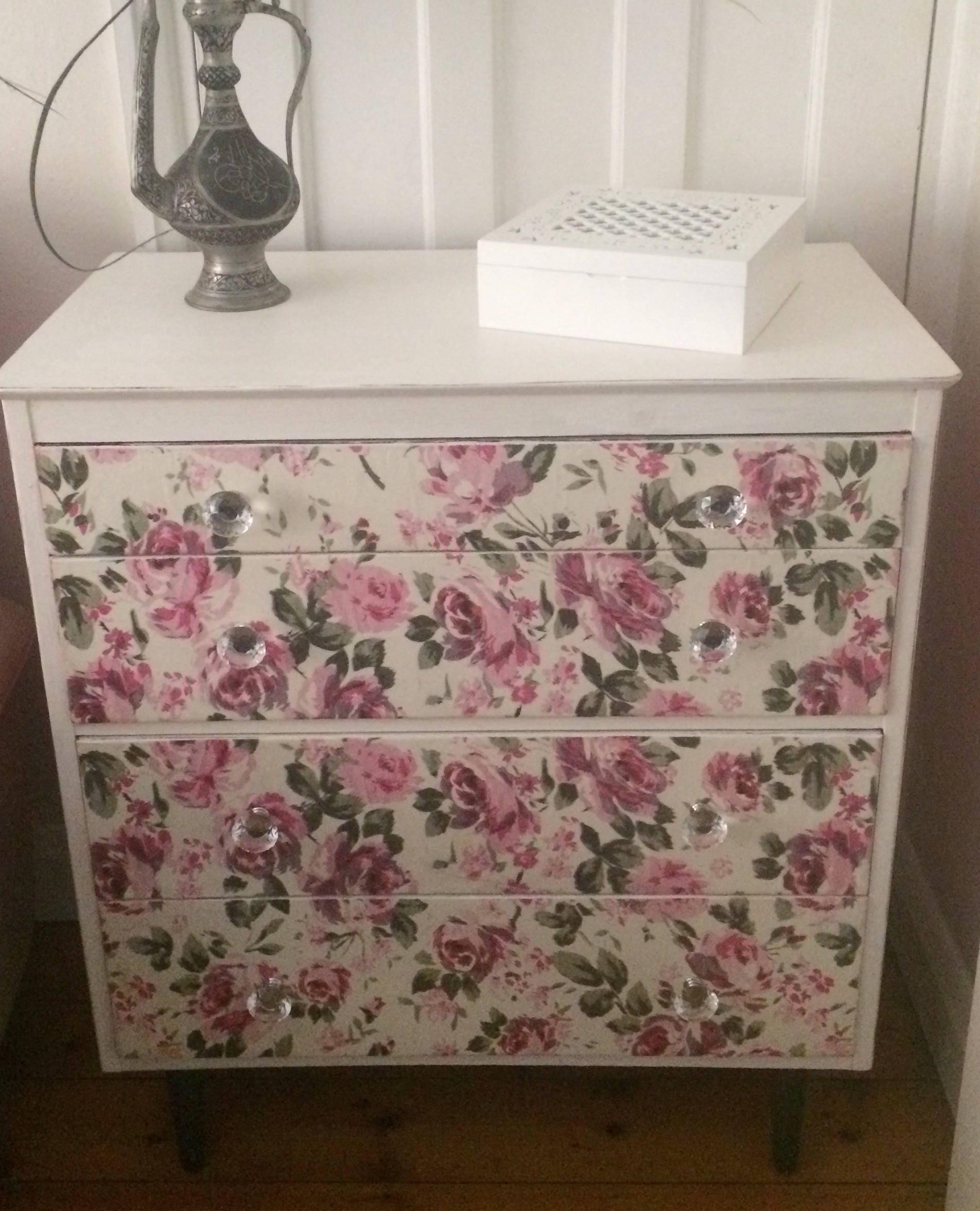 Upcycled shabby chic Antique Lebus VintageRetro chest of drawers