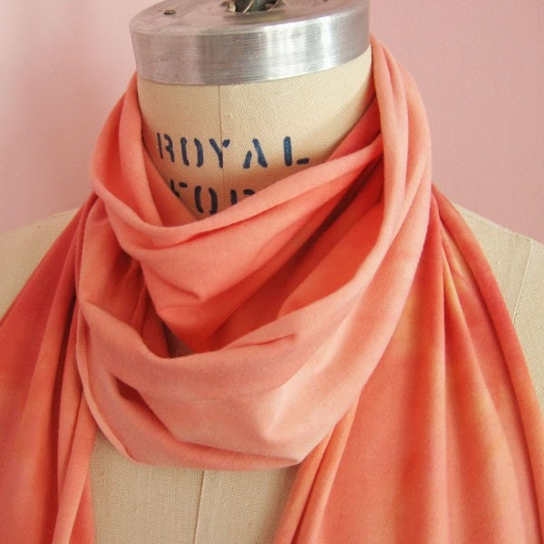 Peachy Keen Soy Organic Cotton Jersey Scarf