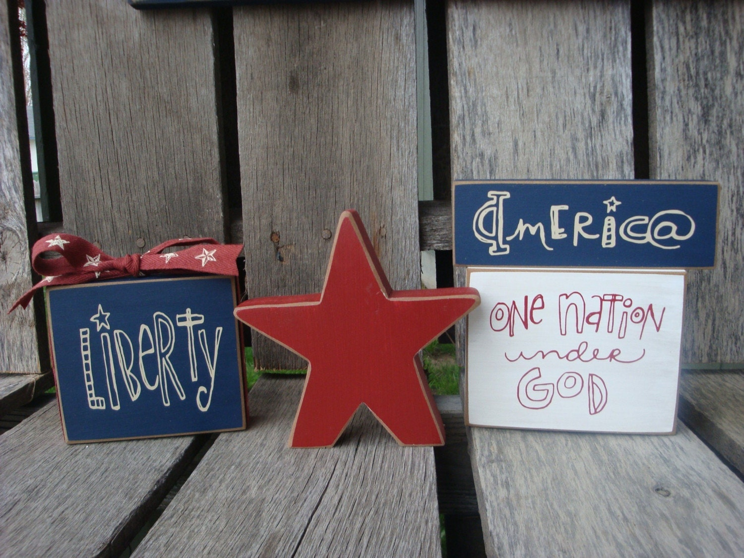Americana Block Set with Star