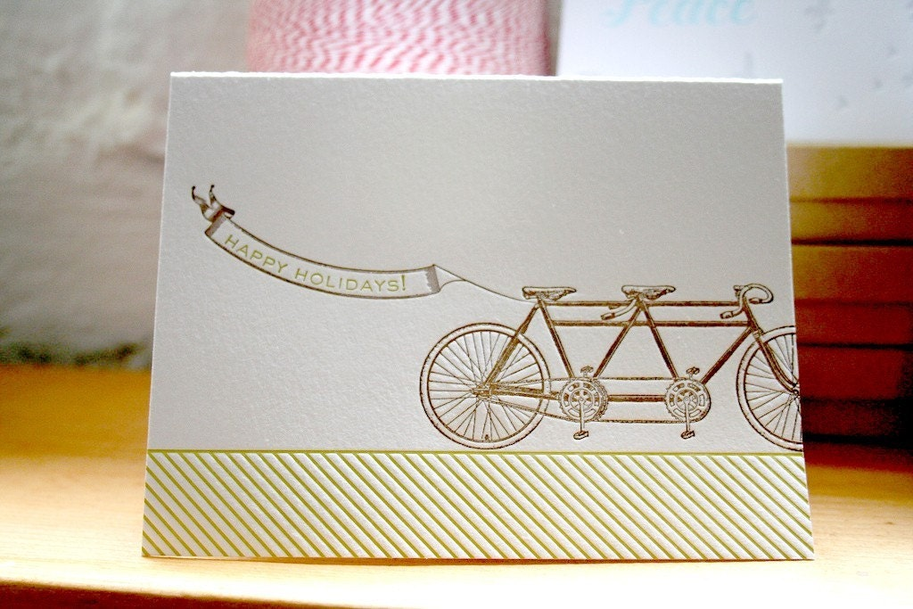 letterpress holiday cards from etsy