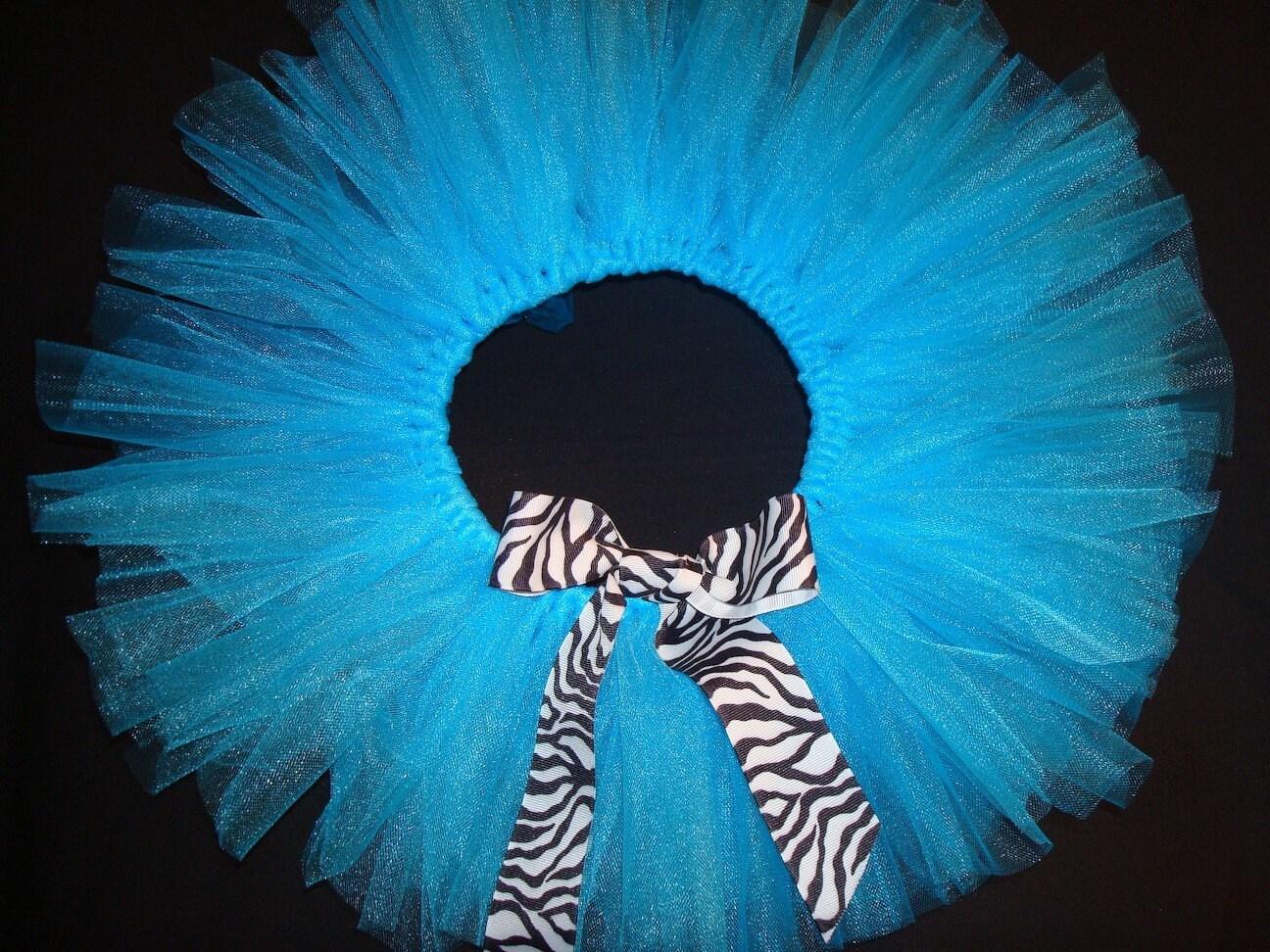Turquoise and Zebra Tutu