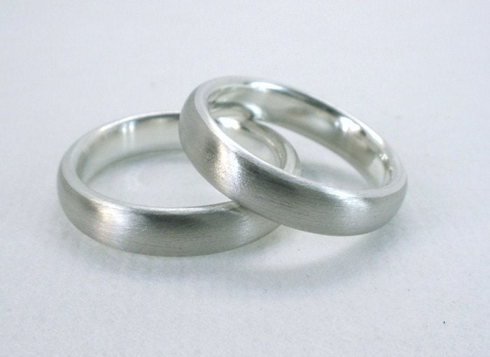 Gray Gold and Silver Wedding Bands Welded