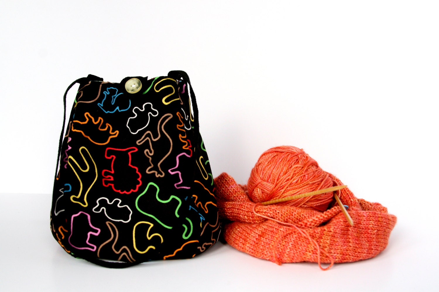 Knitting Project Bag / Crochet Project Bag / by chubbycloud