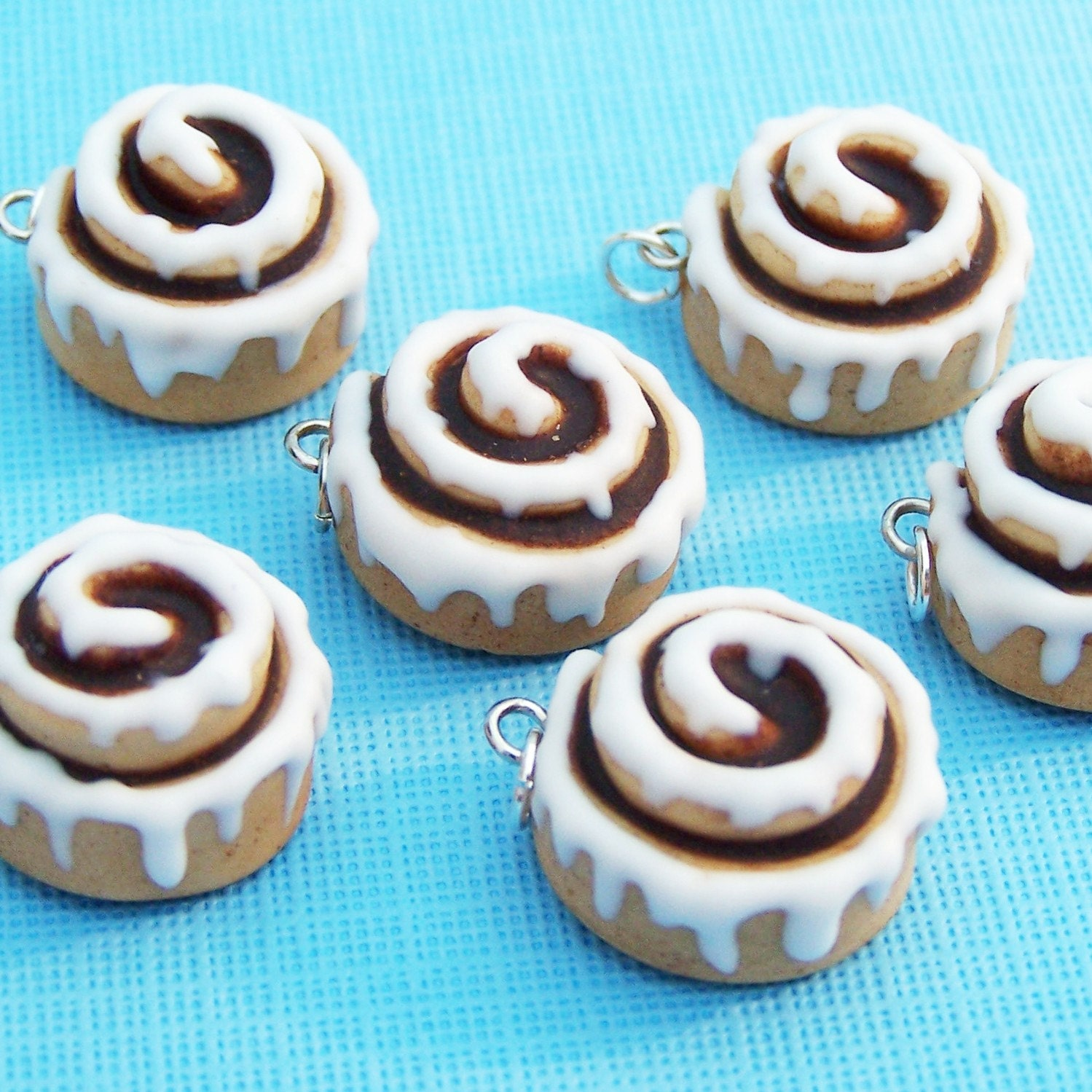Polymer Clay Cinnamon Roll Charm