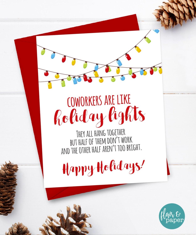 Coworker Card Funny Christmas Card Christmas Card Xmas Card