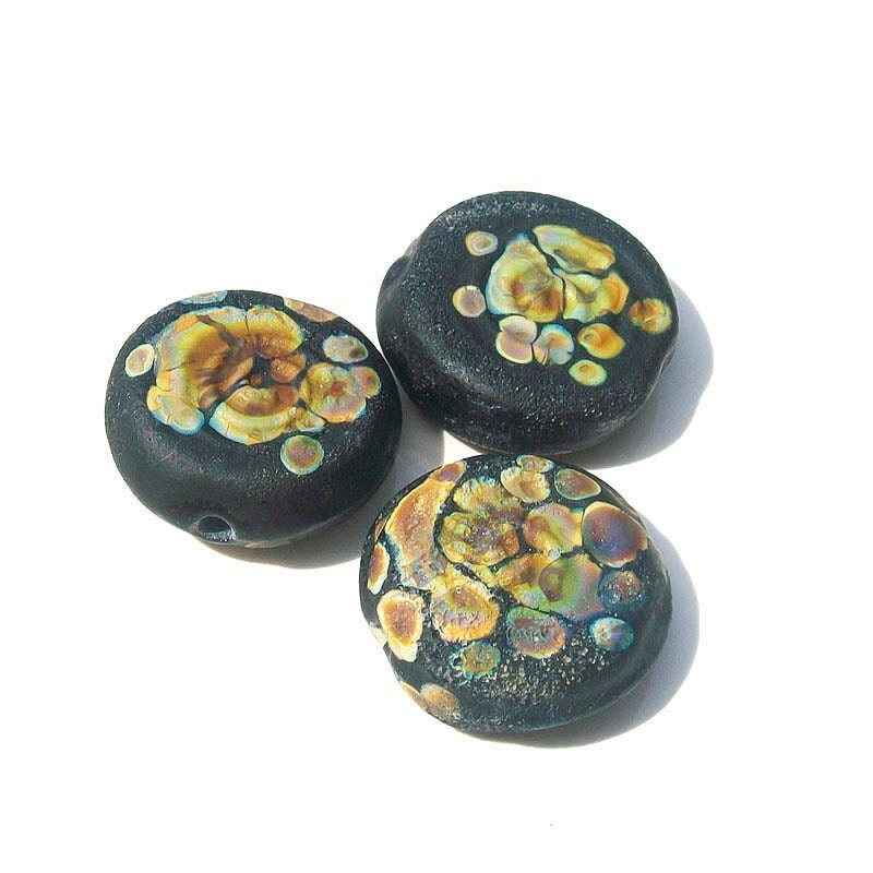 -Handmade lampwork glass beads