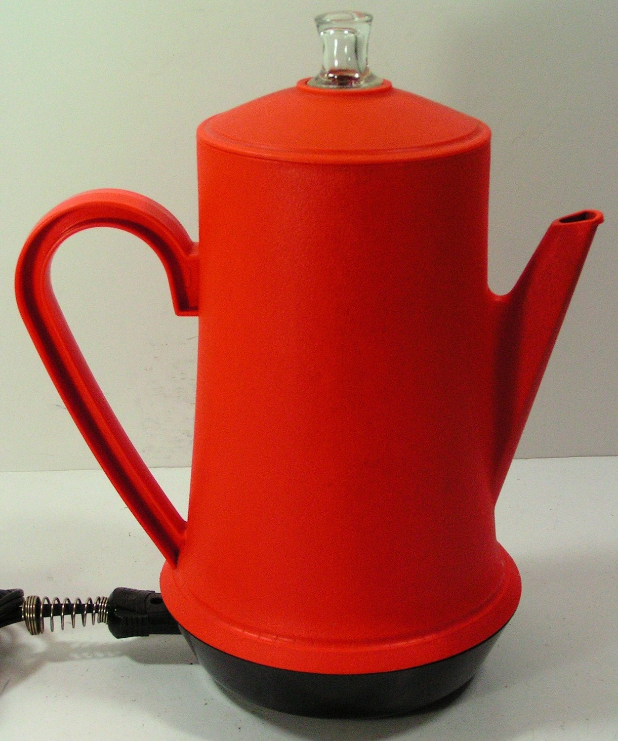 vintage coffee percolator orange 1970s 1960s brewing penncrest 9 cup electric
