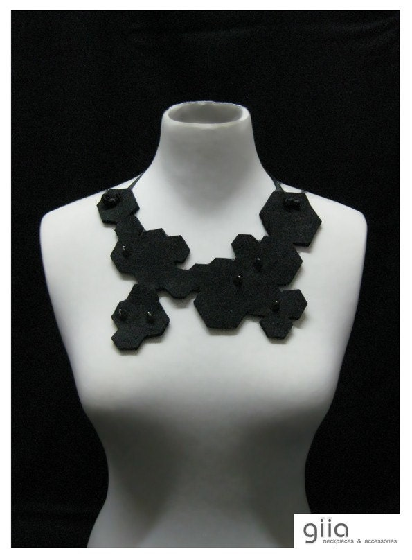MOOD Hex Bib Statement Necklace
