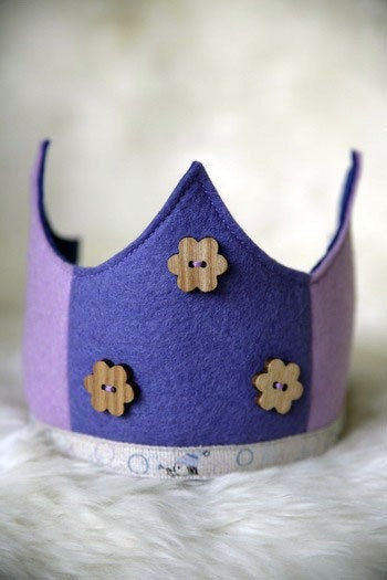 Wool Felt Crown - Purple Bubbles