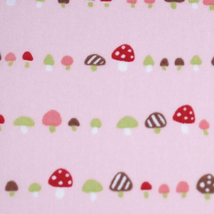 Fungus Among Us PINK Fabric 1 yd