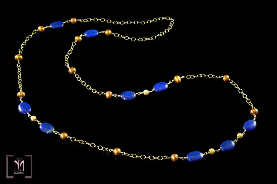 LAPIS FLAPPER Necklace