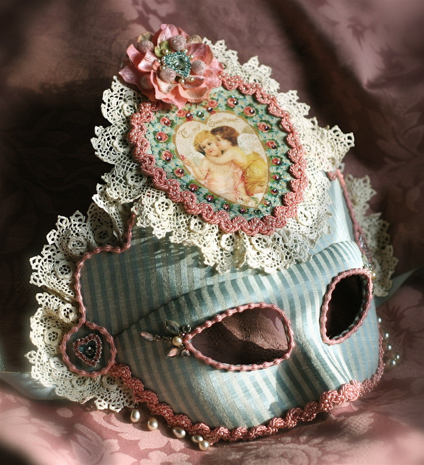 Dances Of Vice Valentines Day Mask-Sweetheart by Kathe Knitch