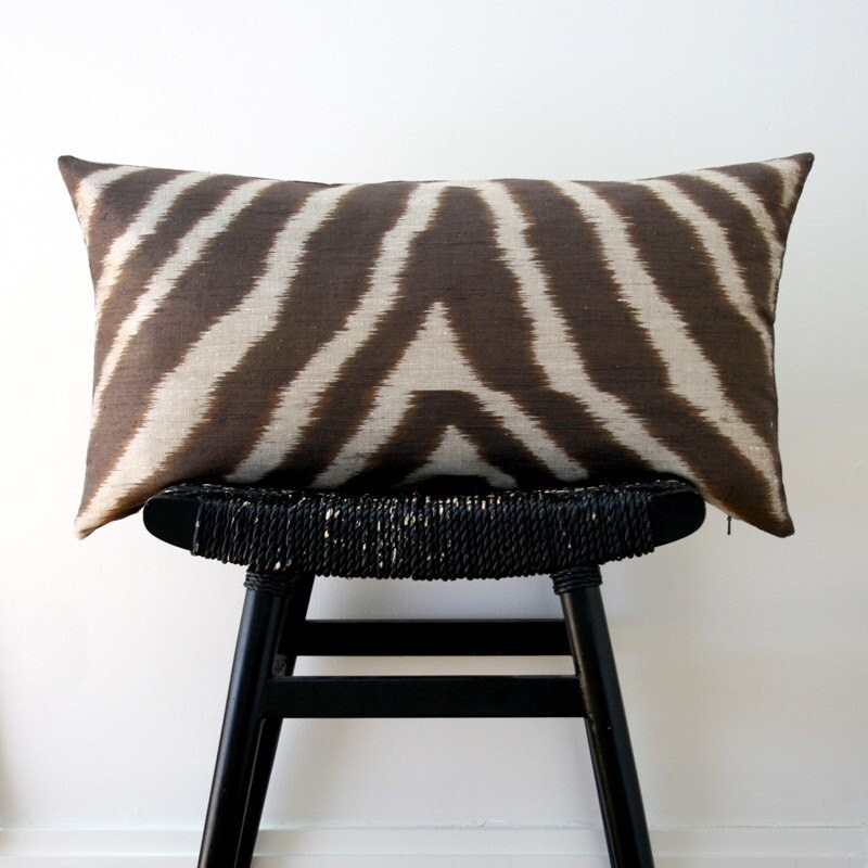 SAFARI Pure Silk Cushion Cover 63 x 34 cm