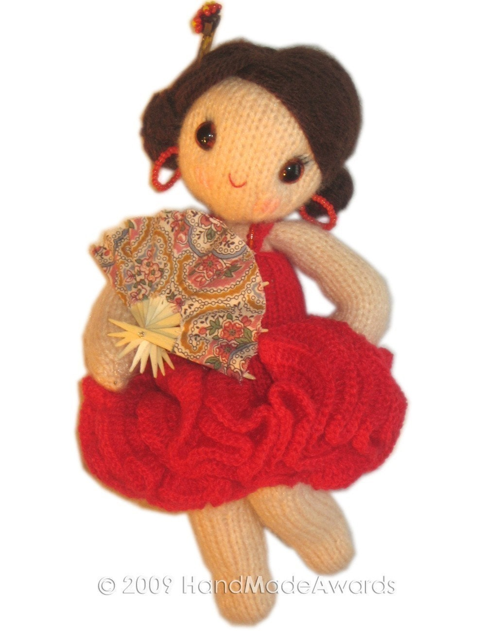 Lovely CARMEN the SPANISH Girly DOLL Pdf EMAIL KNIT PATTERN