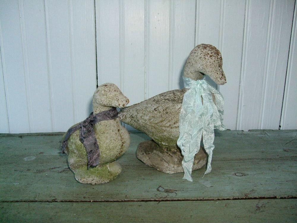 Cement ducks for garden