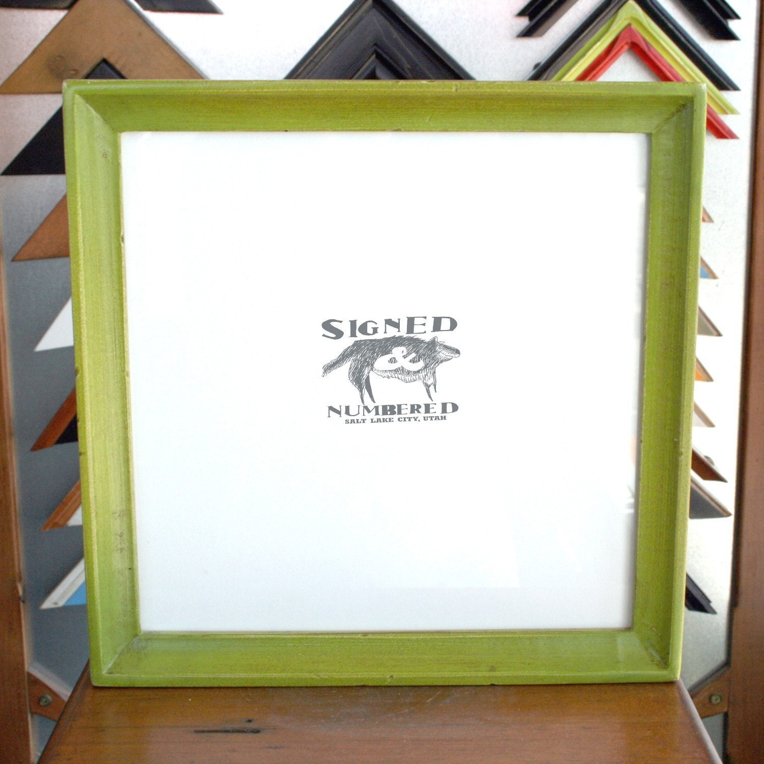 10x10 Picture Frame with Vintage Asparagus Finish in Deep Cove Style