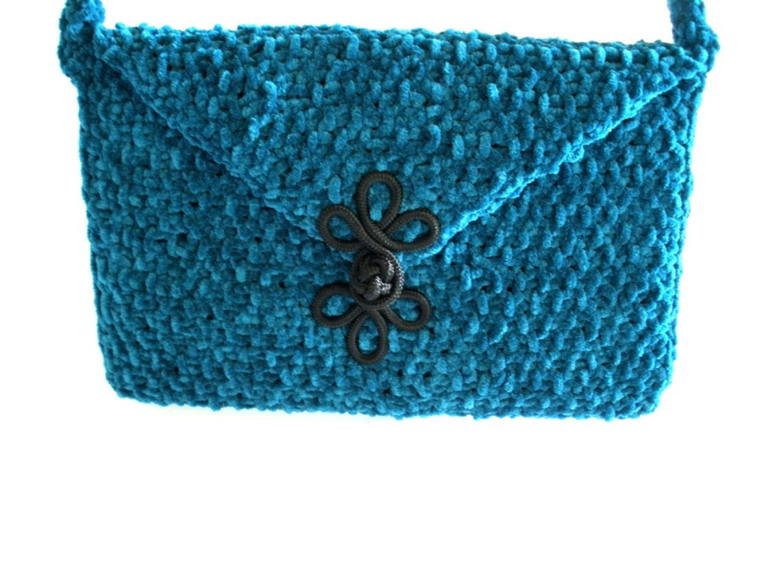 Hand  Knit  Suede  Shoulder  Bag