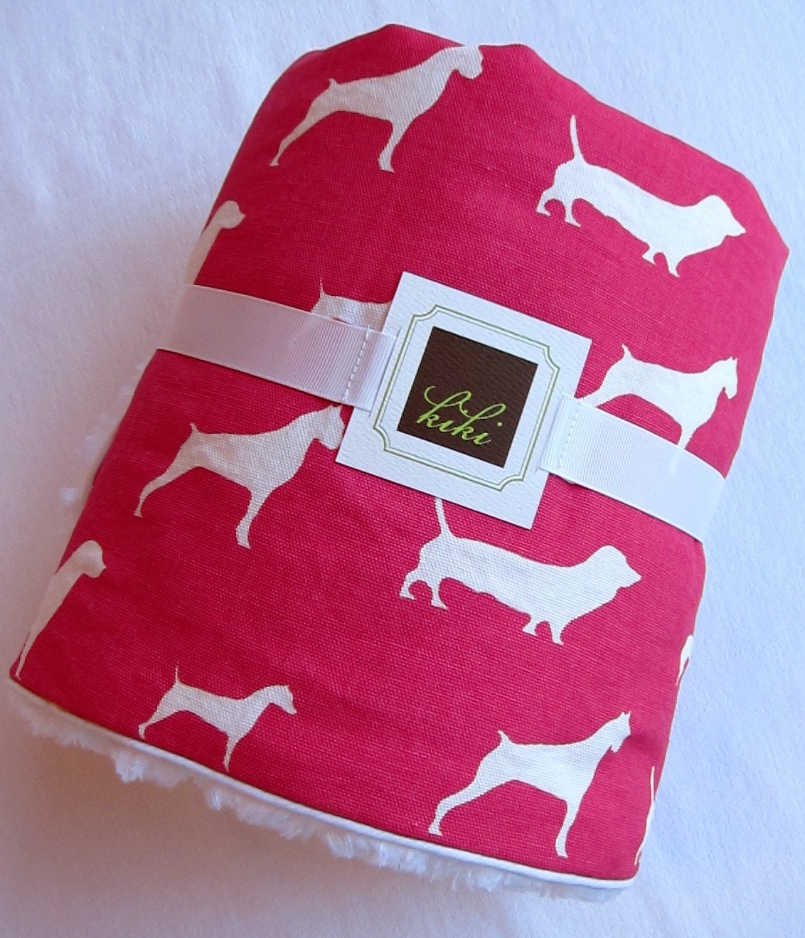 Baby Blanket Doggy Print/Pink/Minky